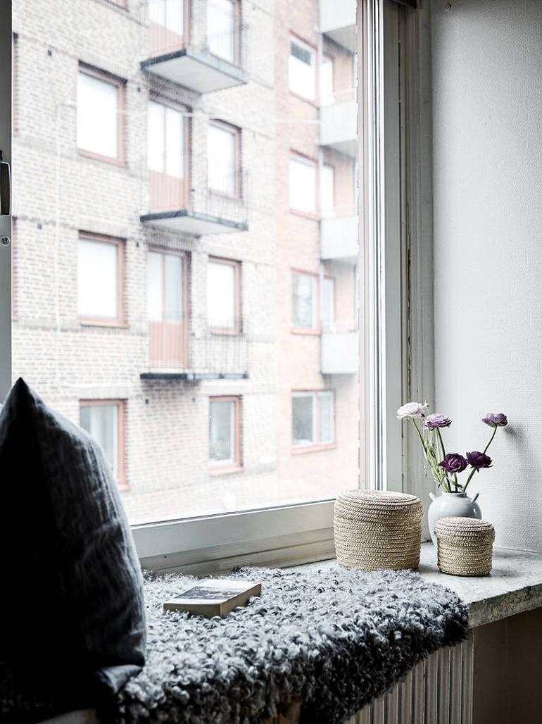 detalle alféizar ventana apartamento nórdico
