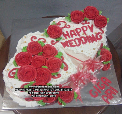 Romantic Cake For Wedding