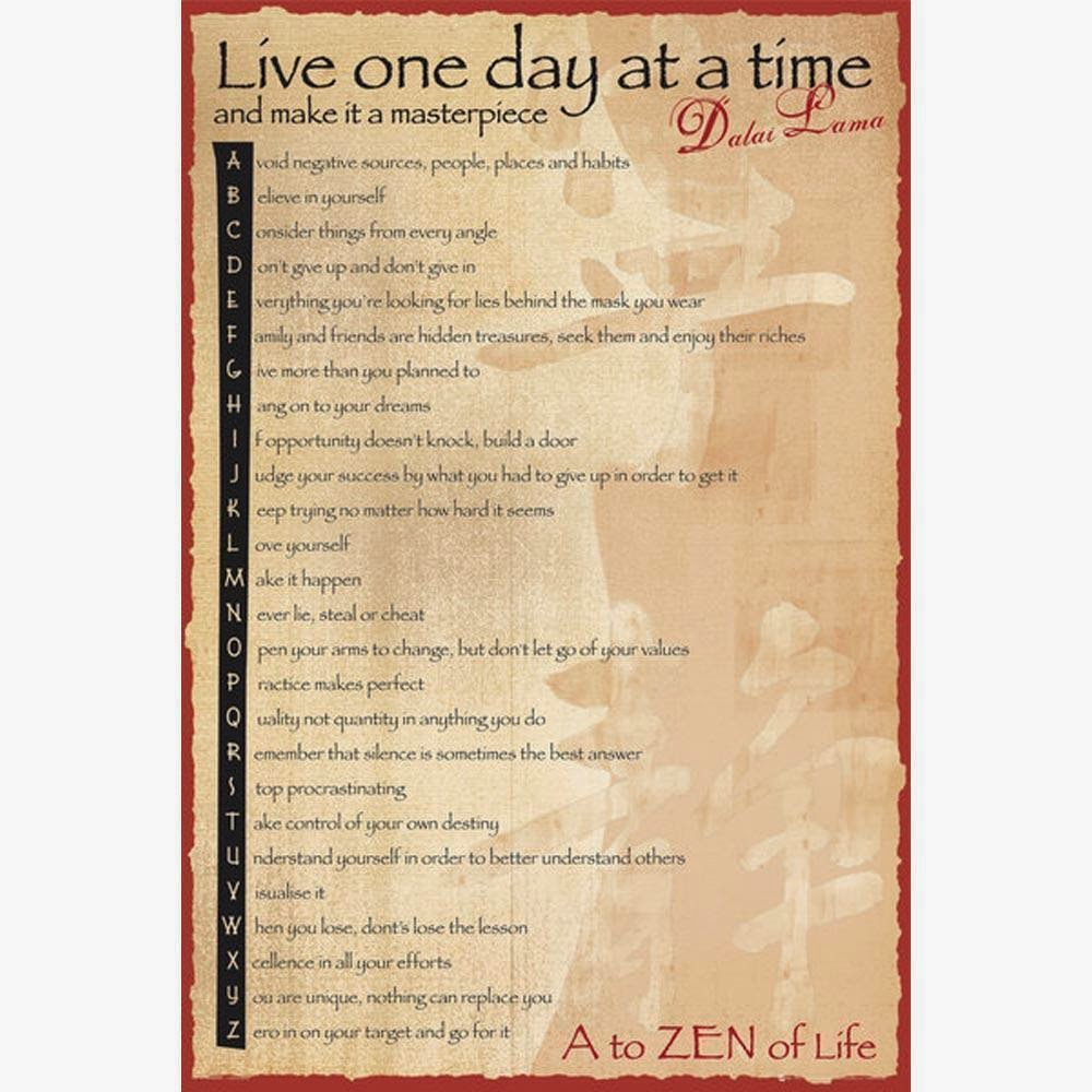 Dalai Lama Live One Day At A Time Quote – Daily Motivational Quotes