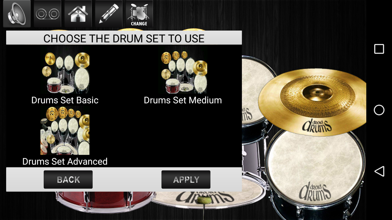 drums droid hd 2016 free apk aplikasi drum terbaik varapido. Black Bedroom Furniture Sets. Home Design Ideas