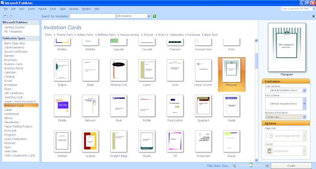 Cara Membuat Kad Jemputan Guna Microsoft Publisher 2003