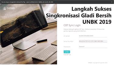 Petunjuk Sukses Singkronisasi Gladi Bersi UNBK 2019