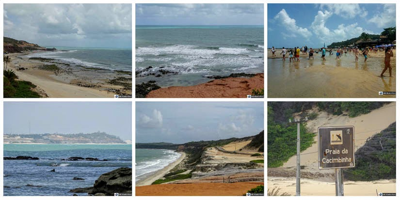 Na sequência, Praia do Amor, Praia da Cancela, Praia da Pipa, Baía dos Golfinhos, Praia do Madero e Praia da Cacimbinha