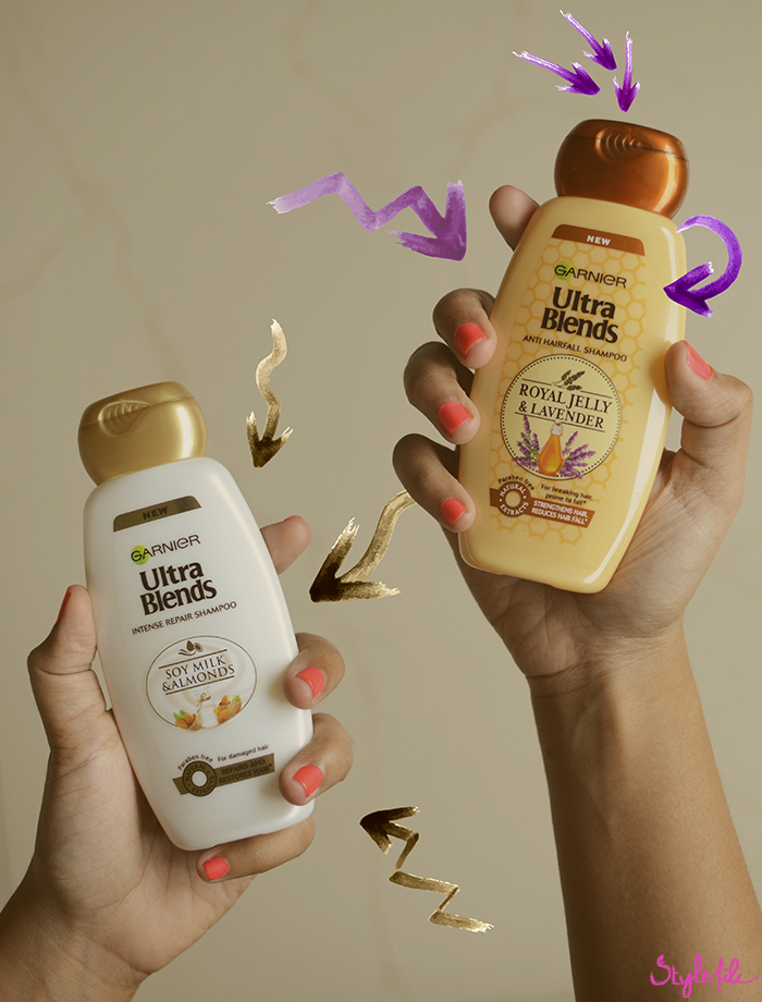 Dayle Pereira of Style uses the Garnier Ultra Blends range of shampoos to nourish and promote healthy hair