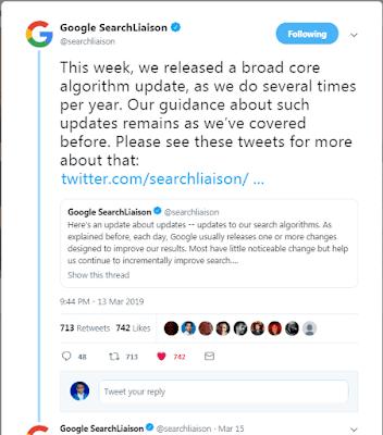 konfirmasi update algoritma google