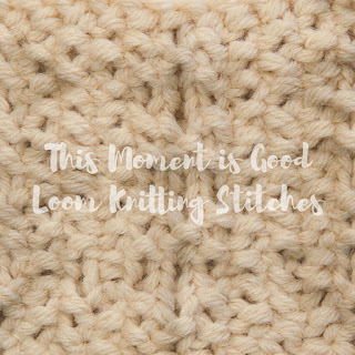 Moss Stitch Diamonds