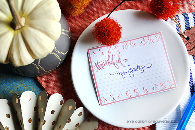 thanksgiving tree, thanksgiving place setting, thankful cards