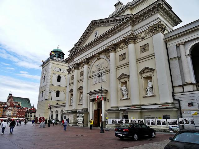 centrum Warszawy kościół i Zamek Królewski