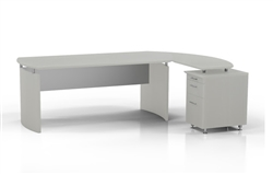 Mayline Medina Desk with Pedestal Extension