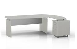 Mayline Medina Desk with Pedestal Extension