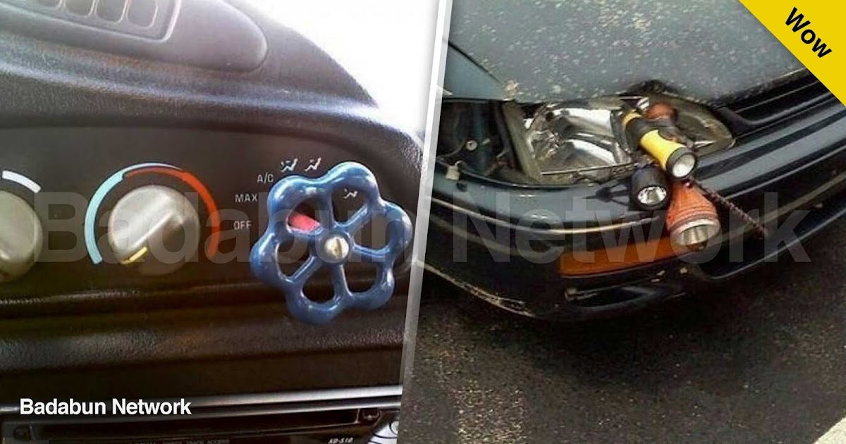 coche reparar humor ridiculo vergüenza pobre