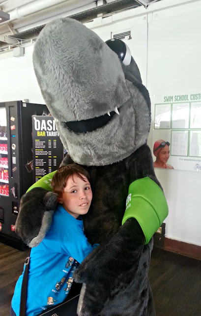 Boy with Shark Character Costume