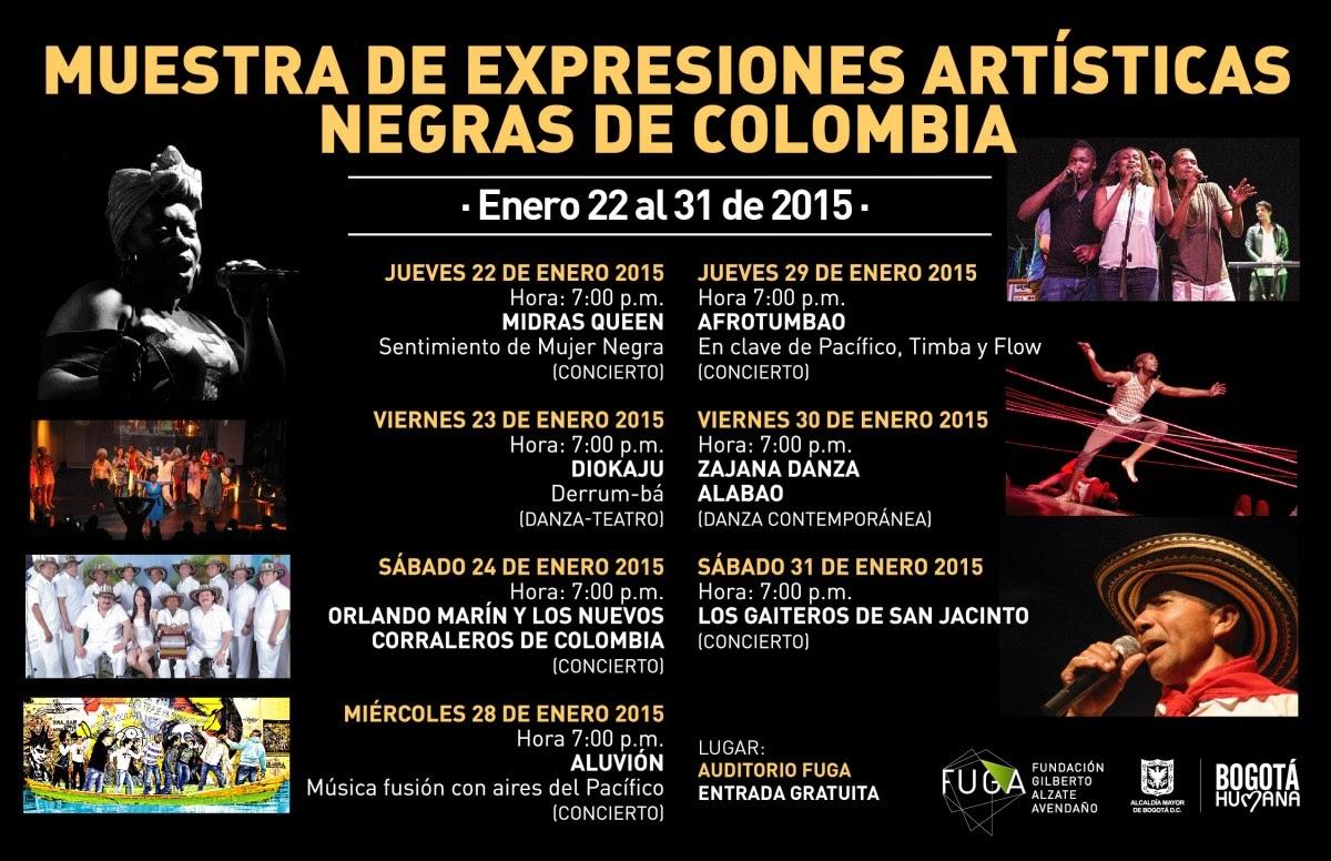 Muestra de expresiones artísticas negras de Colombia