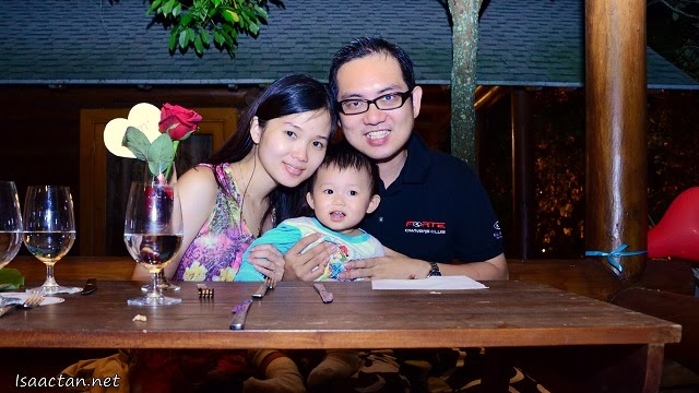 One for the album, my family at Philea Resort & Spa Melaka