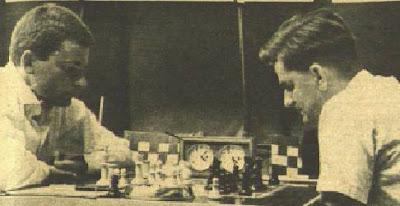 Partida de ajedrez Spassky vs. Darga en la XV Olimpíada de Varna 1962