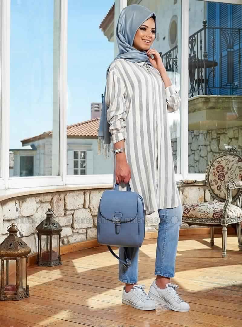 Style De Hijab Id E De Tenue Hijab En Bleue Moderne Et Pratique Pas Cher Hijab Et Voile Mode