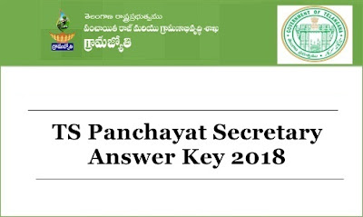 Telangana Panchayat Secretary Answer Key 2018