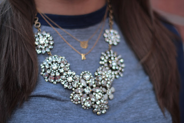 j. crew necklace, j. crew statement necklace, statement necklace, cluster statement necklace, cluster j. crew, lulu frost