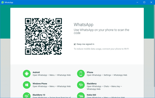 WhatsApp for PC Windows Mac QR Code