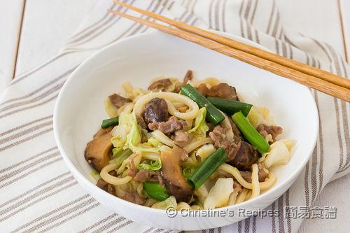 高麗菜肉絲炒烏冬 Pan-Fried Udon with Pork and Cabbage02