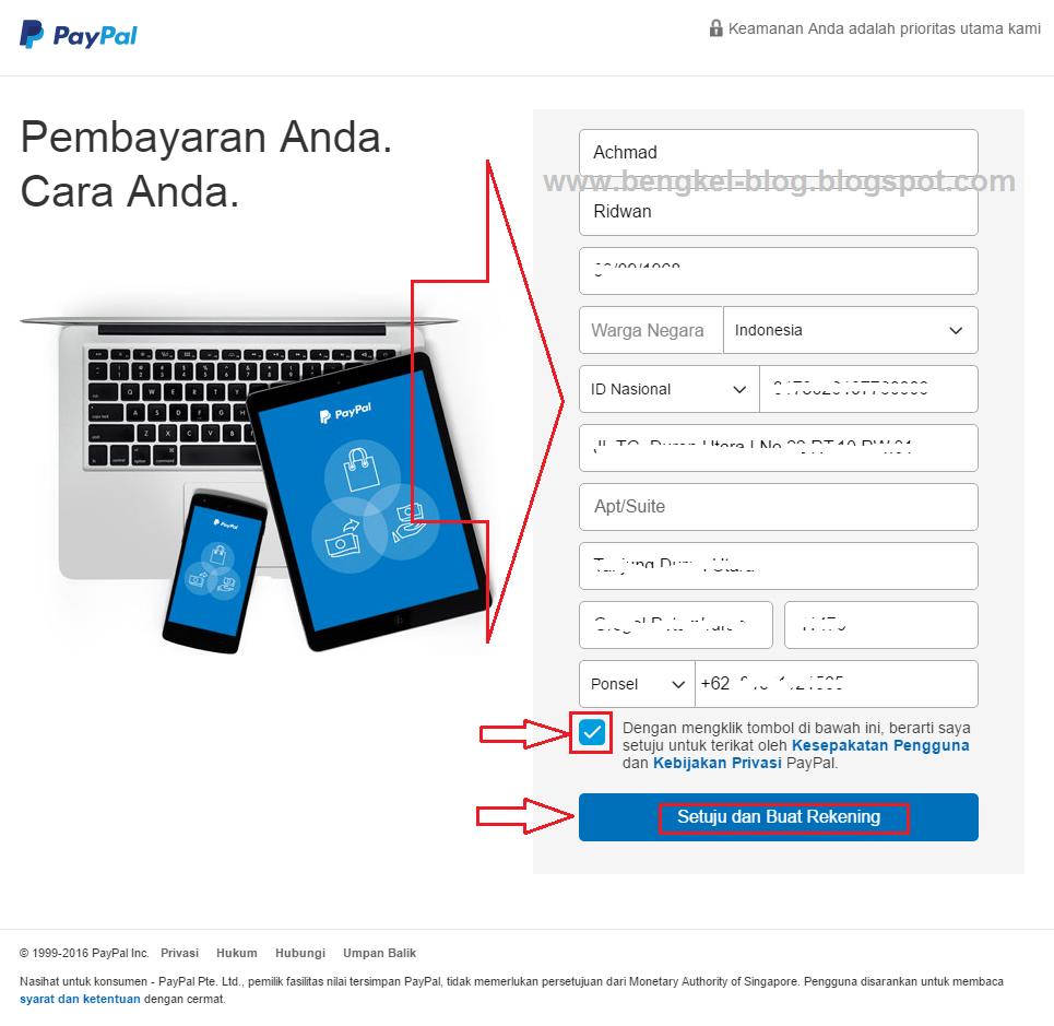 Cara Membuat Rekening PayPal Baru