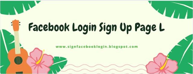 Facebook Login Sign Up Page L
