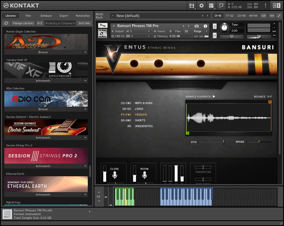 Ventus Ethnic Winds - Bansuri KONTAKT Library download for free