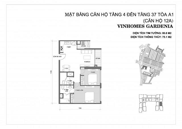 12A - Tòa A1 Vinhomes Gardenia
