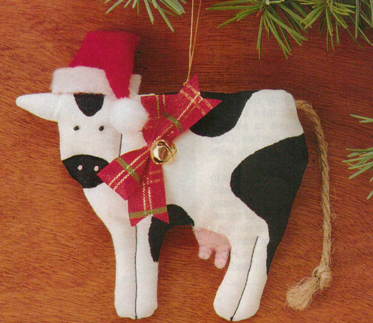 Doobie's Doings: Cow Ornaments (christmas craft)