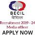 BECIL Recruitment 2019 | 24 Social Media Officer & Project Delivery Head, Art Director, Data Scientist @ www.becil.com