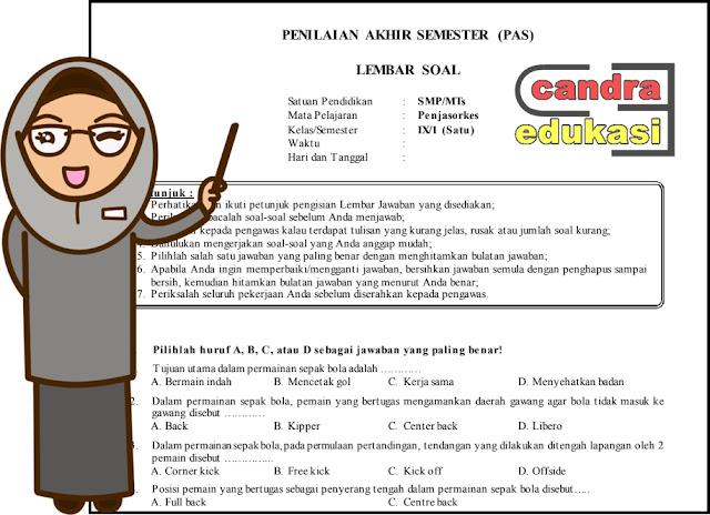 Soal Uas Penjaskes Kelas 9 Semester 1 Dan Kunci Jawaban