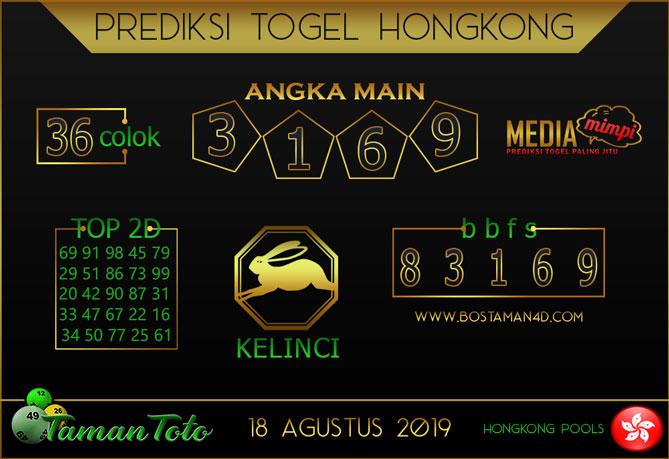 Prediksi Togel HONGKONG TAMAN TOTO 18 AGUSTUS 2019
