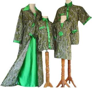 model baju batik muslim sarimbit modis