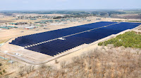A 60-acre solar farm in Camp Ripley, a National Guard base in Minnesota. (Photograph Credit: Bob King | Inforum) Click to Enlarge.