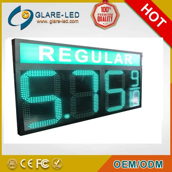 gas station LED price signs, led price display, led price changers