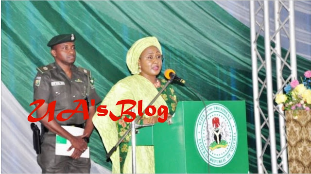 VIDEO: Aisha Buhari asks Nigerians to fight the 'two men hindering this government'