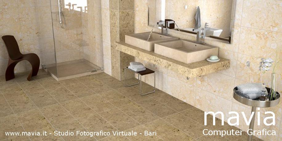 Esterni 3d Rendering 3d Architettura 3d Bagni In Muratura Design