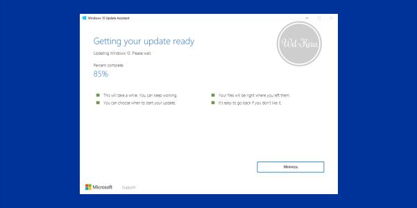 Wd-Kira, How to update windows 10 fall creators, how to easy installing update windows 10, cara update software windows 10 fall creator, windows 10 fall creators update, Windows 10 Iso, Online update