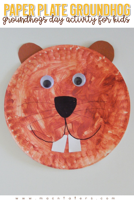 This simple invitation to paint is the perfect activity for children to complete around Groundhog's Day. Paper plate crafts for kids are such simple and cheap activities and this Paper Plate Groundhog Craft for kids fits the bill.