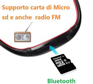 cuffie sport bluetooth micro sd