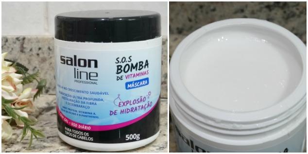 linha S.O.S Bomba de Vitaminas da Salon Line 3