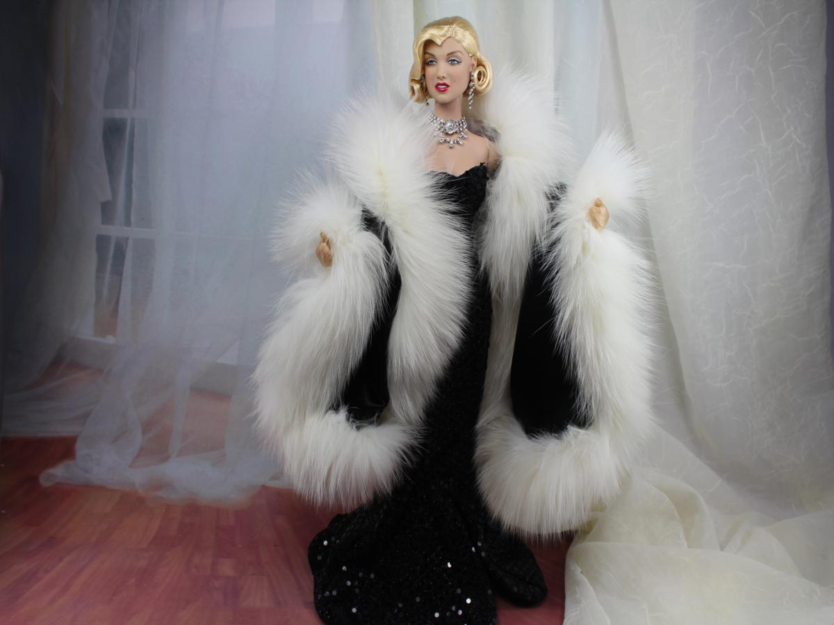 White Fur Stole >> dimitha-A-Day: Glamour furs for Tonner's Marilyn Monroe doll