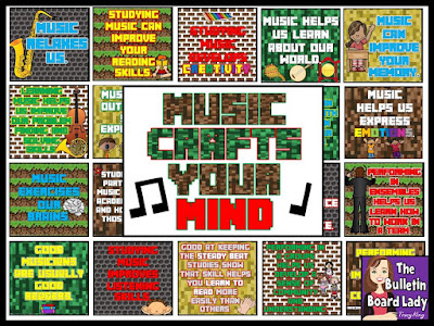 Music Crafts Your Mind by The Bulletin Board Lady Tracy King