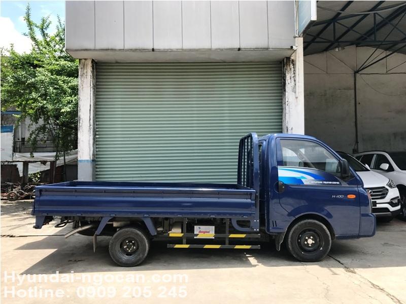 hyundai 1 tấn h100 Xe tải Hyundai 1 tấn H100 thùng lửng màu xanh xe tai hyundai thung lung 2B 25281 2529