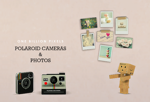 Polaroid Cameras Photos Wall Decor Clutter One