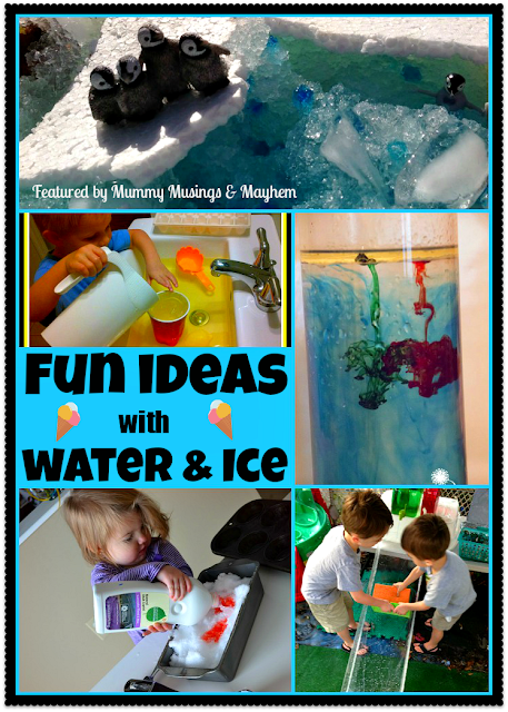 Toddler water and snow play