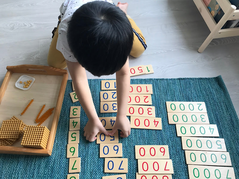 Montessori Golden Beads 2nd Game: Assemble the Number