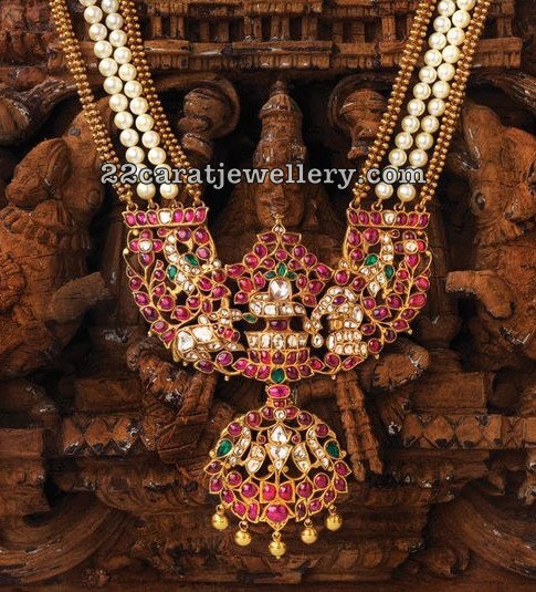 Pearls Haram with Shivalingam Pendant