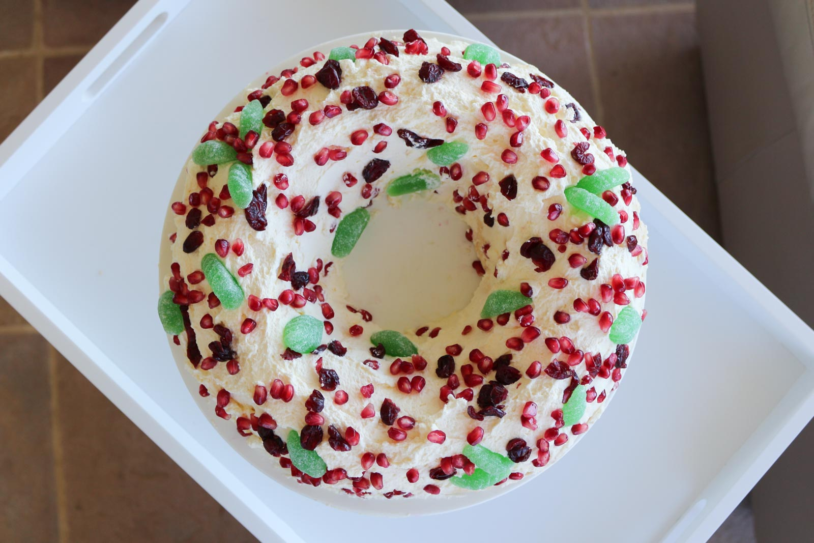 Cranberry & Pomegranate Wreath Pavlova | Cate Renée