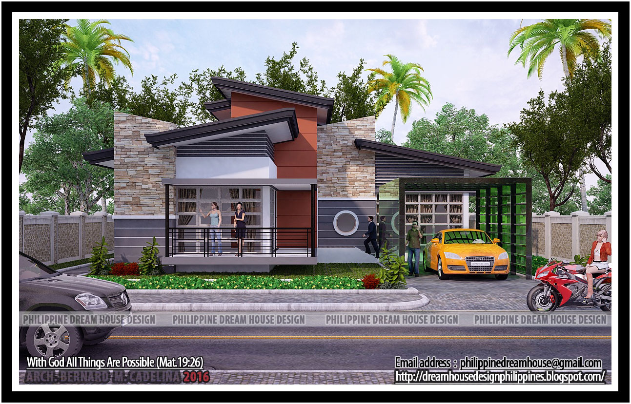 Philippine dream house design four bedrooms bungalow for House in design